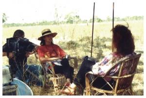 Michèle Decoust en tournage dans les Kimberleys